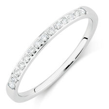 Wedding Band with 1/6 Carat TW of Diamonds in 14kt White Gold