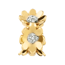 Diamond Set & 10kt Yellow Gold Flower Charm
