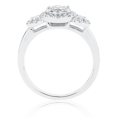 Engagement Ring with 5/8 Carat TW of Diamonds in 10kt White Gold