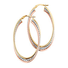 Hoop Earrings in 10kt Yellow, White & Rose Gold