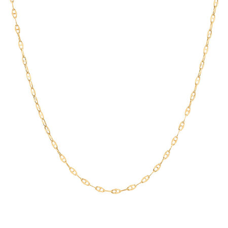 "40cm (16"") Hollow Fancy Chain in 10kt Yellow Gold"