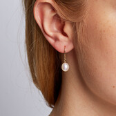 Drop Earrings with Cultured Freshwater Pearl in 10kt Yellow Gold