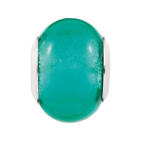 Green Murano Glass Charm