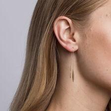 Teardrop Thread Earrings in 10kt Yellow Gold