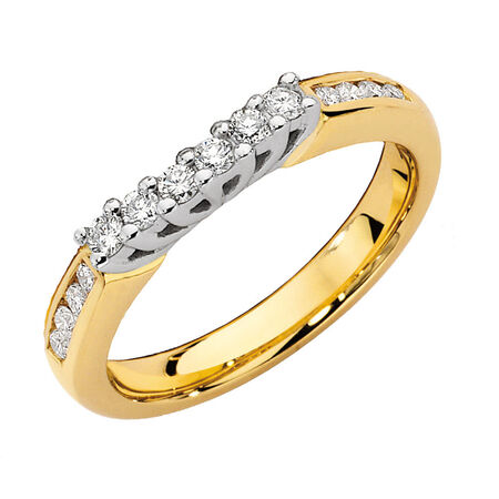 Online Exclusive - Eternity Ring with 0.34 Carat TW of Diamonds in 14kt Yellow & White Gold