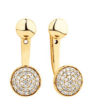 Stud & Enhancer Earrings with 1/5 Carat TW of Diamonds in 10kt Yellow Gold