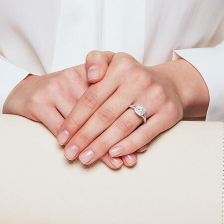 Sir Michael Hill Designer GrandArpeggio Engagement Ring with 1 Carat TW of Diamonds in 14kt White Gold