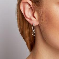 Infinity Drop Earrings in Sterling Silver