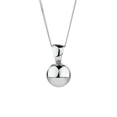 Ball Pendant in Sterling Silver
