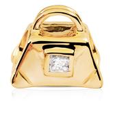 Diamond Set & 10kt Yellow Gold Handbag Charm