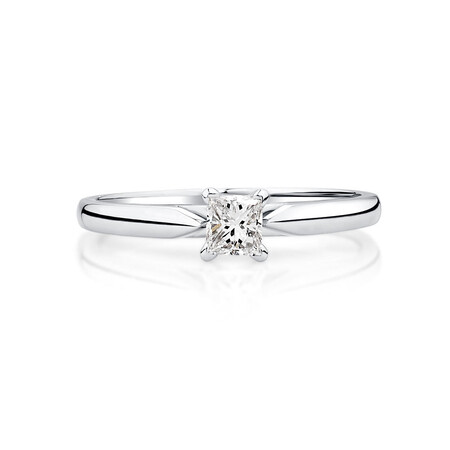 Evermore Solitaire Engagement Ring with a 1/4 Karat TW Diamond in 14kt White Gold