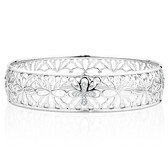 Online Exclusive - Bangle with Diamonds in Sterling Silver