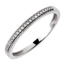 Wedding Band with 1/15 Carat TW of Diamonds in 10kt White Gold
