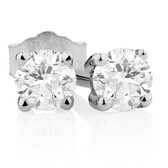 Classic Stud Earrings with 1/5 Carat TW of Diamonds in 10kt White Gold