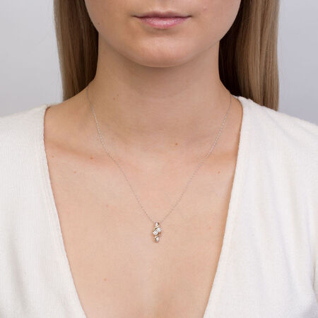 By My Side Pendant with 1/6 Carat TW of Diamonds in 10kt White & Yellow Gold