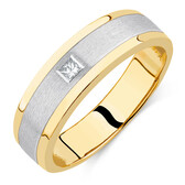Men's Diamond Set Ring in 10kt Yellow & White Gold