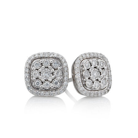 Online Exclusive - Stud Earrings with 0.31 Carat TW of Diamonds in 10kt White Gold
