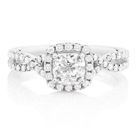 Sir Michael Hill Designer GrandAdagio Engagement Ring with 1 3/4 Carat TW of Diamonds in 14kt White Gold