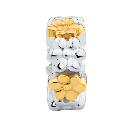 10kt Yellow Gold & Sterling Silver Spacer