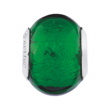 Dark Green Murano Glass Charm