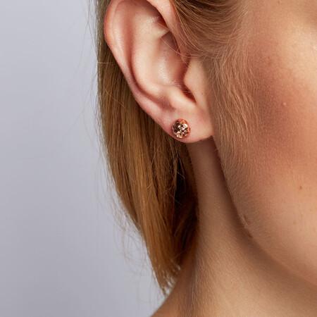 7mm Stud Earrings in 10kt Rose Gold