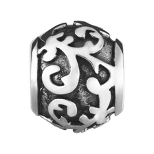 Sterling Silver Oxidized Filigree Charm