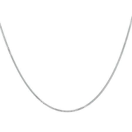 """45cm (18"""") Curb Chain in 14kt White Gold"""
