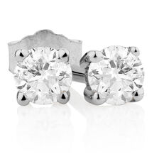 Clic Stud Earrings With 1 5 Carat Tw Of Diamonds In 10kt White Gold