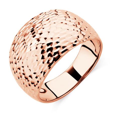 Patterned Ring in 10kt Rose Gold