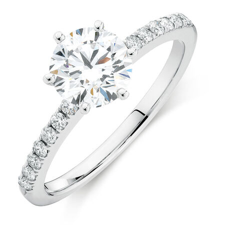 Online Exclusive - Engagement Ring with 1.12 Carat TW of Diamonds in 14kt White Gold