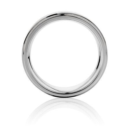 9mm Men's Ring in Gray Tungsten