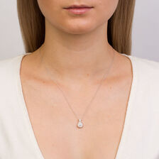Michael Hill Designer Allegro Pendant with 1/2 Carat TW of Diamonds in 14kt White & Rose Gold