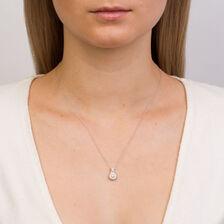 Michael Hill Designer Allegro Pendant with 1/2 Carat TW of Diamonds in 14kt White & Rose Gold