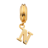 Diamond Set & 10kt Yellow Gold 'N' Charm