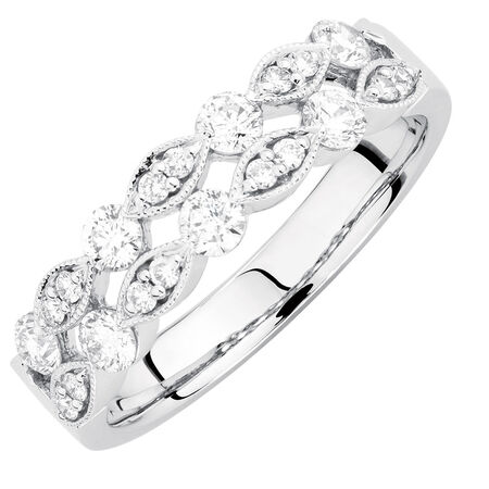 Ring with 5/8 Carat TW of Diamonds in 10kt White Gold