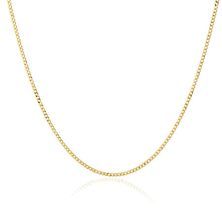 "60cm (24"") Hollow Curb Chain in 10kt Yellow Gold"