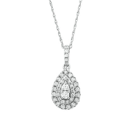 Sir Michael Hill Designer Fashion Pendant with 1/3 Carat TW of Diamonds in 10kt White Gold