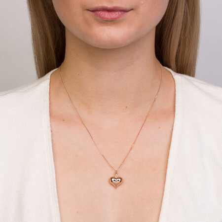Heart Pendant in 10kt Rose Gold