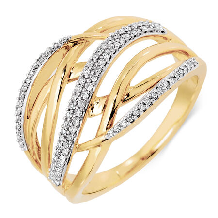 Ring with 1/5 Carat TW of Diamonds in 10kt Yellow Gold
