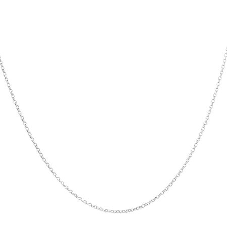 "50cm (20"") Rolo Chain in 10kt White Gold"