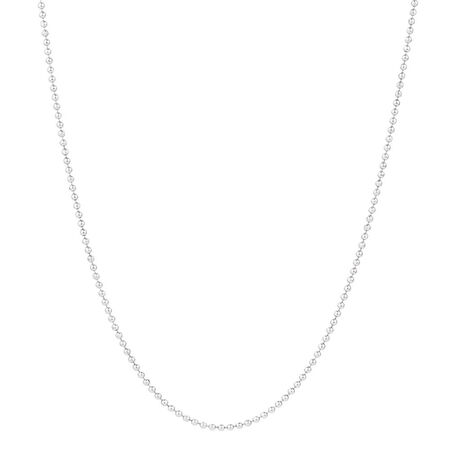 "Sterling Silver 50cm (20"") Ball Chain"