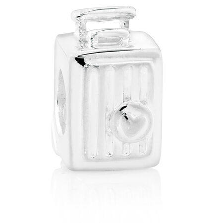 Sterling Silver Suitcase Charm