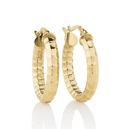 Hollow Hoop Earrings in 10kt Yellow Gold
