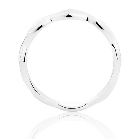 Sterling Silver Crossover Stack Ring