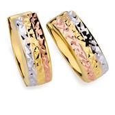 Hoop Earrings in 10kt Yellow, White & Rose Gold