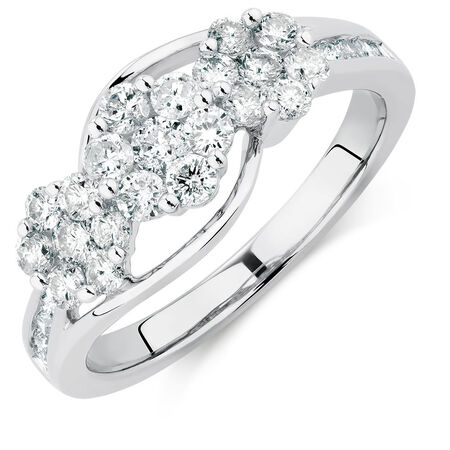 Online Exclusive - Engagement Ring with 1 Carat TW of Diamonds in 10kt White Gold