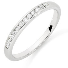 Wedding Band with 1/6 Carat TW of Diamonds in 10kt White Gold