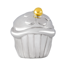 10kt Yellow Gold & Sterling Silver  Cupcake Charm