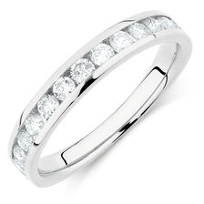 Wedding Band with 3/4 Carat TW of Diamonds in 14kt White Gold