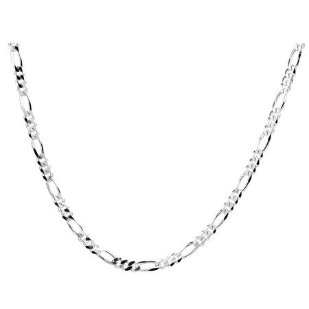 "50cm (20"") Figaro Chain in 925 Sterling Silver"
